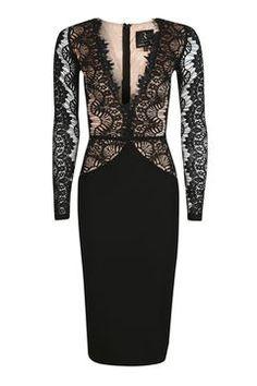 **Long Sleeve Midi Dress by Rare