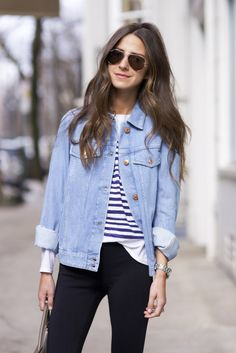 Something Navy | layering with denim