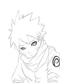 Naruto line art by Madnesssss on DeviantArt