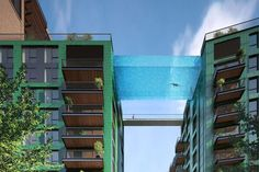 Hmm - would you dare?  Floating Above London, This Invisible Pool Lets You Swim Laps In The Sky