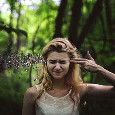 20 years old U.S.-based photographer Rachel Baran creates powerful surreal and conceptual self portraits