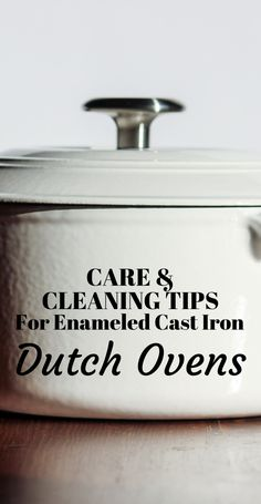Click now to learn all of the best tips for caring for and cleaning your enameled cast iron dutch oven, as well as tips for making the most of your dutch oven cooking. Enamel Dutch Oven, Cast Iron Cooking, Dutch Oven Recipes Enameled, Best Dutch Oven, Cooking Quotes, Cooking Tips, Baby Cooking, Cooking Recipes, Gifts