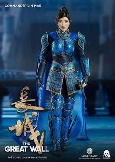The Blind Ninja — Jing Tian as Commander Lin Mae of the Crane Troop Female Samurai, Female Armor, Chinese Armor, Jing Tian, Chinese Movies, Fantasy Warrior, Hanfu, Character Inspiration, Asian Beauty