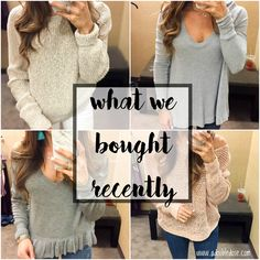 What We Bought Recen