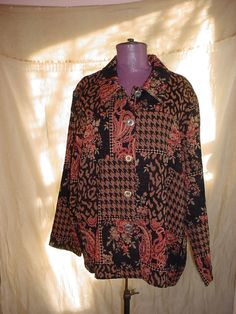 Studio Works Tapestry Jacket Coat Ornate Buttons 2 X Long Sleeve Cotton Blend #StudioWorks #BasicJacket Seller floasgarden on ebay