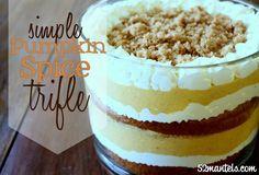 52 Mantels: Pumpkin Spice Trifle Recipe