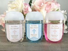 Baptism favor labels First Communion hand by WildSugarberries