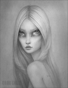 """Amaia"" by Lori Earley. Graphite on bristol board, 9.5"" x 7.5""."