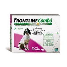 FRONTLINE COMBO 20 - 40 KG, 3 PIPETTE 28,90 €. #antizecchecani #cani