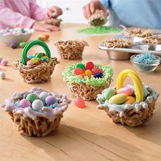 Easter Recipes for Kids - Easter Egg Baskets    landolakes.com