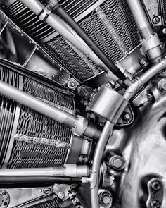 Radial...   #blackandwhite #motor #engine #aircraft #mechanical #monochrome #metal