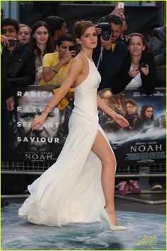 Emma Watson's Leg Takes Center Stage at 'Noah' London Premiere | emma watson leg noah london douglas booth 01 - Photo Gallery | Just Jared Jr.