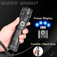 USB Charging Zoom Powerful Flashlight(BUY 1 GET OFF)Night hiking on unknown routes . Cool Gadgets To Buy, Gadgets And Gizmos, Latest Gadgets, Usb, Super Bright Flashlight, Cool Inventions, Lampe Led, Useful Life Hacks, Cool Things To Buy