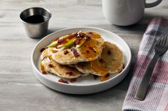 Add a new dimension to morning pancakes by incorporating Butterball® Turkey Bacon, apples and cheese into the batter. This dish will make breakfast or brunch a special occasion. Breakfast Bites, Breakfast Cake, How To Make Breakfast, Breakfast Recipes, Cheese Pancakes, Buttermilk Pancakes, Apples And Cheese, Turkey Bacon, Bread Rolls