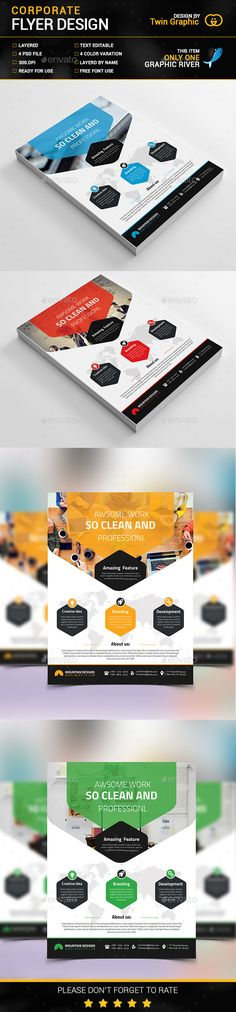 Corporate Flyer Design Template PSD. Download here: http://graphicriver.net/item/-corporate-flyer-design/15621732?ref=ksioks