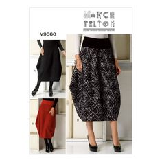 NEW | Vogue Marcy Tilton Sewing Pattern | V9060 | Misses' Skirt | FREE SHIPPING in Crafts, Sewing, Sewing Patterns | eBay