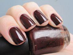 OPI - Suzi Says Da!   I love the Suzi shades! I wear this chocolate cherry shade in the fall/winter.