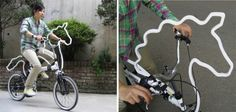 omg awesomespice all the way.  an attachment to your bike that makes it look like a horse.  hilarious!