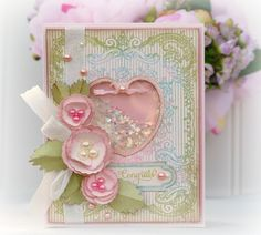 Valentine Shaker Card by chelemom - Cards and Paper Crafts at Splitcoaststampers