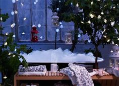 frosty and cozy: