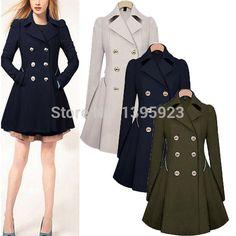 Barato Casaco 2015 mulheres outono inverno lã casaco de manga comprida Designer de lã Slim Fit brasão Zanzea Femininas roupas S XXL, Compro Qualidade Lã e Mesclas diretamente de fornecedores da China:                           tamanho         EUA S ( 4 )         US M (  6-8  )         US L   ( 10-12  )          US