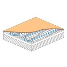 A floating UFH system is a floor that doesn't need to be nailed or glued to the subfloor and is supported on a continuous layer, usually of insulation