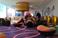 nhow_berlin, Lobby. Hotel in Friedrichshain.