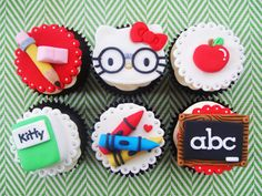 would love these for Ella's 5th birthday since she will go to school that year...had already planned to do apples but this would be cute