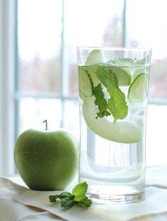 Idees de recettes d'eaux detox - Water detox pommes