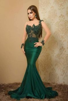 Classy Gowns, Classy Dress, Beautiful Evening Gowns, Evening Dresses, Mermaid Prom Dresses Lace, African Prom Dresses, Lace Dress Styles, Special Dresses, Curvy Outfits