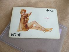 Hey, I found this really awesome Etsy listing at http://www.etsy.com/listing/173379081/vargas-50s-pin-up-girl-playing-card-3-of