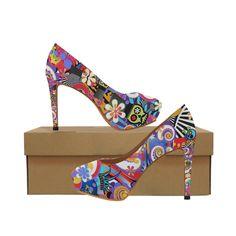 d1bb7c142610 Ladies High Heels Sugar Skull Pop Art Juleez Women s High Heels (Model 044)