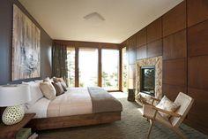 chambre à coucher moderne, deco chambre adulte en bois