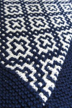 "welsh blanket via ravelry (planning to make this my next ""big"" knitting project) Slip stitch"