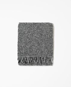 Echarpe en laine pied de poule - The Kooples