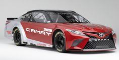The front nose of the new NASCAR Toyota is an aggressive and unique design https://racingnews.co/2017/01/09/2018-nascar-toyota-camry-photos-released/ #nascarcupseries