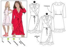 Giselle Dress Sewing Pattern By Style Arc