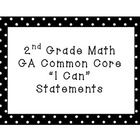 Grade Math Common Core I Can Statements (Black and White) by Mrs Barksdale Teaching Second Grade, Second Grade Math, Grade 2, Common Core Math, Common Core Standards, Classroom Helpers, Classroom Ideas, Core I, Go Math