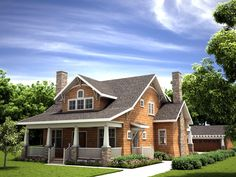 <!-- Generated by XStandard version 2.0.0.0 on 2015-03-31T14:40:28 --><ul><li>All the charming features of a storybook Bungalow home are captured in this stunning home plan, from the wide front porch to the big center gable. This home is the perfect size - not too big or too small.</li><li>The fireplace in the living room is flanked by built-ins that add an authentic feel.</li><li>The dining room is open to the kitchen and family room and fr...