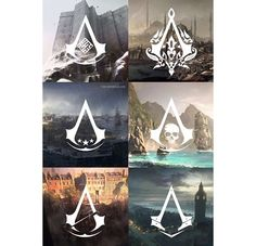 Assassins Creed Symbols throughout the Series