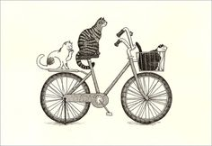 Cat Print  by Natsuo Ikegami. Her artwork is available from Chanabean and from kushun55 on Etsy.