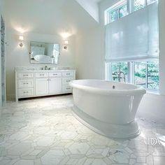Marble Geometric bathroom Floor Tiles