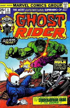 Comic Book Critic - Google+ - Ghost Rider #11 (Apr '75) cover by Gil Kane & Tom Palmer.