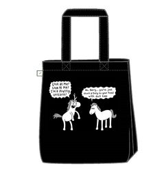 New Tote bag featuring the ever loveable Barry The Cosplaying Horse. He is a master of the Artform! Available for all your carrying needs from www.genkgear.com
