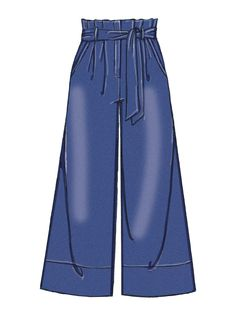 High-waisted, pleated pants pattern from McCall's. M7726 | McCall's Patterns | Sewing Patterns. #SewingPattern