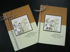 Get Well Soon Cards Any Occasion Cards Set of 2 by apaperaffaire