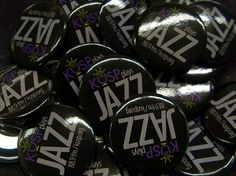 KUSP free jazz buttons by KUSP Public Media, via Flickr