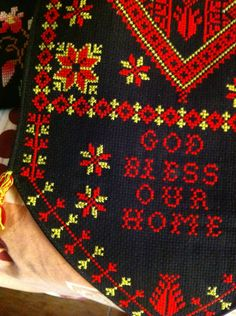 Palestinian Embroidery, Cross Stitch Embroidery, Projects To Try, Traditional, Dress, Palestine, Stitching, Cross Stitch, Costume Dress