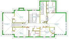 Home Alone house floor plan-upstairs
