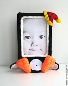 """Купить Фото рамка """"Пингвинчик"""" - подарок, ребенку, пингвин, пингвинчик, девочке, фоторамка"""